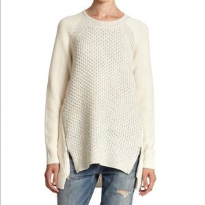 Rebecca Taylor Oversized Zipper Sweater